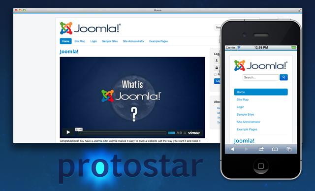 Ho provato Protostar, il template di default di Joomla 3
