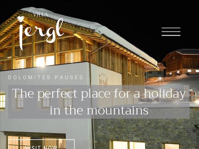 Nuova architettura web per il sito di chalet Villa Iergl